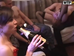 Hottest college girls Arielle, Aya, Caren, Mandie, Phoebe and Teri fucking at the party